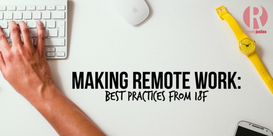 Making Remote Work: Best Practices from 18F